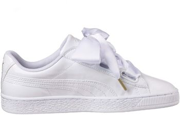 Puma Basket Heart Patent Dames Wit