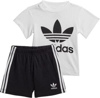 adidas Trefoil Short en T-shirt Set Jongens Wit