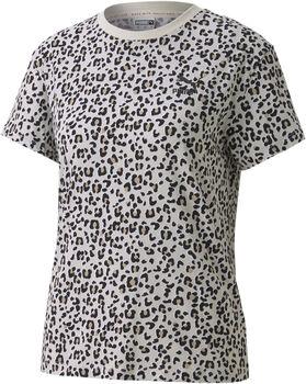 Puma Classics AOP Logo t-shirt Dames Grijs
