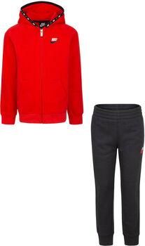 Nike Micro Swoosh Full Zip Fleece kids set Jongens Zwart