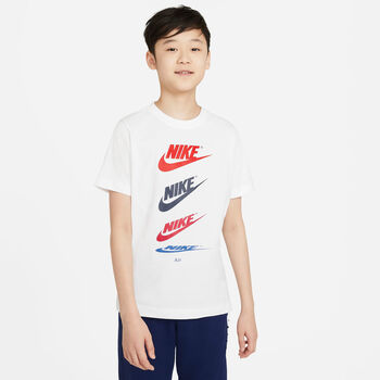 Nike Sportswear Futura Repeat kids t-shirt Jongens Wit