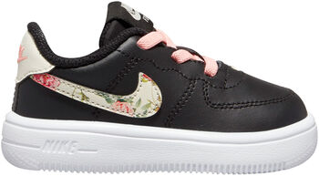 Nike Force 1 Vintage Floral Baby/Toddler Shoe Zwart