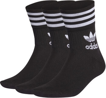 adidas Mid Cut Sokken 3 Paar Heren Zwart