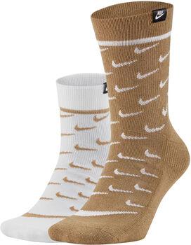 Nike Sneaker Crew 2-pack sokken Heren Multicolor