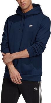 adidas LOUNGEWEAR Trefoil Essentials Hoodie Heren Blauw