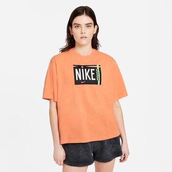 Nike Sportswear Washed t-shirt Dames Oranje
