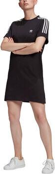 adidas Adicolor Classics Roll-Up Sleeve T-shirt Jurk Dames Zwart