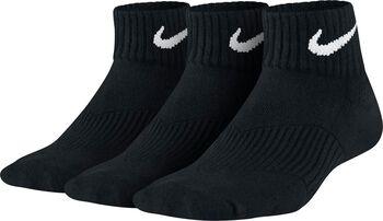 Nike Cotton Cushion Quarter 3-pack sokken Jongens Zwart