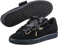 Suede Heart Satin sneakers