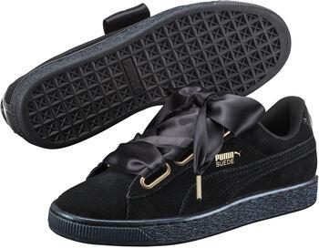 Puma Suede Heart Satin sneakers Dames Zwart