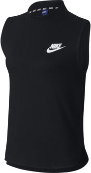 Nike Sportswear Advance 15 top Dames Zwart