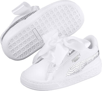 Puma Basket Heart Bling Meisjes Wit