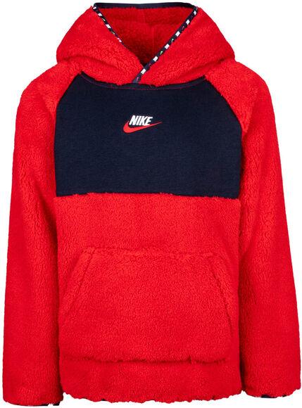 Micro Swoosh Sherpa Po kids hoodie