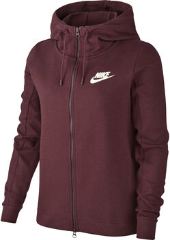 Nike Sportswear Optic Fleece hoodie Dames Rood