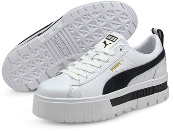 Puma Mayze Leather sneakers Dames Wit