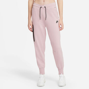 Nike Sportwear Tech Fleece broek Dames Rood