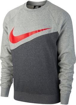 Nike Sportswear Swoosh Crew sweater Heren Zwart