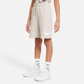 Nike Sportswear Swoosh kids French Terry short Ecru