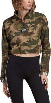 ADIDAS Half Zip sweater Dames Bruin