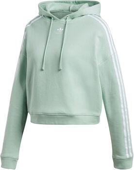ADIDAS Cropped hoodie Dames Groen