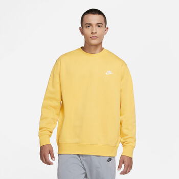 Nike Sportswear Club sweater Heren Geel