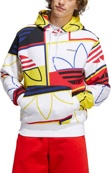 adidas AOP Logo Play hoodie Heren Wit