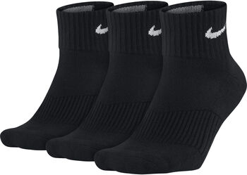Nike Cotton Cushion Quarter sokken (3-pak) Heren Zwart