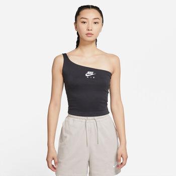 Nike Air Asymmetrical tanktop Dames Zwart