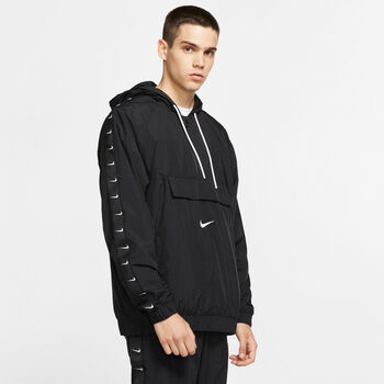 Nike Sportswear Swoosh Woven jack Heren Zwart