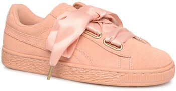 Puma Suede Heart Satin sneakers Dames Rood