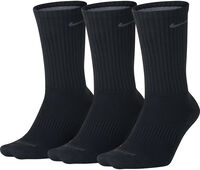 Nike Drifit Lightweigt Crew 3-pak sokken Heren Zwart