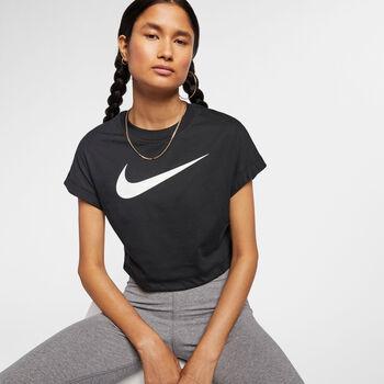 Nike Sportswear Swoosh Crop top Dames Zwart
