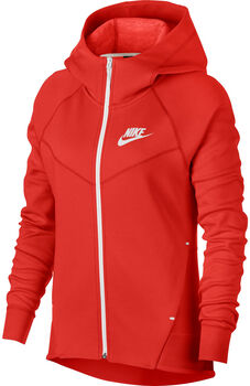 Nike Sportswear Tech Fleece hoodie Dames Rood