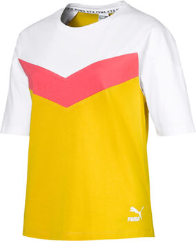 Puma XTG Colorblock shirt Dames Geel