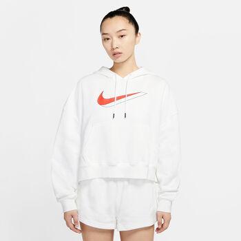 Nike Icon Clash Fleece hoodie Dames Wit