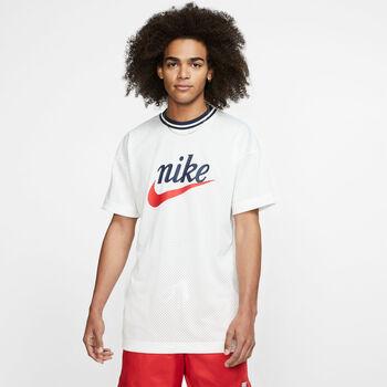 Nike Sportswear Mesh shirt Heren Wit