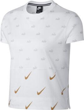 Nike Sportswear Metallic shirt Dames Wit