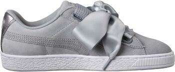 Puma Suede Heart Safari Dames Grijs