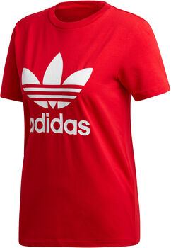adidas Trefoil t-shirt Dames Rood