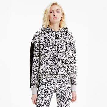 Puma Classics Cropped hoodie Dames Grijs
