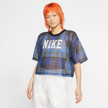 Nike Sportswear Mesh top Dames Blauw