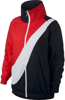 Nike Sportswear Woven Swoosh Jacket Dames Zwart