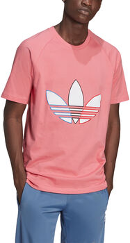 adidas Tricolor t-shirt Heren Rood