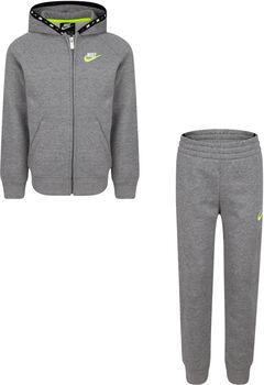 Nike Micro Swoosh Full Zip Fleece kids set Jongens Grijs