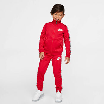 Nike Block Taping Tricot kids set Jongens Rood