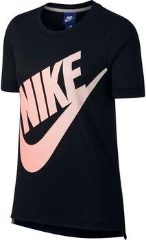 Nike Logo Futura shirt Dames Zwart