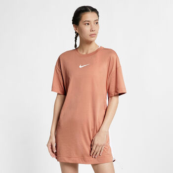 Nike Sportswear Swoosh Dress Dames Rood