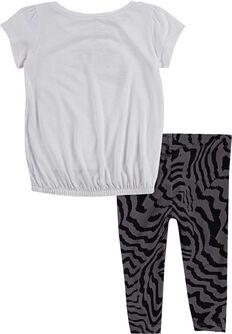 Electric Zebra tuniek & legging kids set