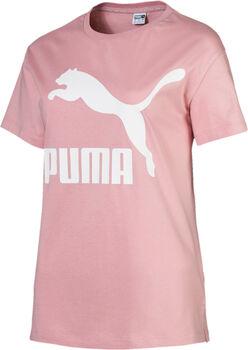 Puma Classics Logo shirt Dames Roze