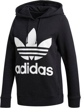 adidas Trefoil hoodie Dames Zwart